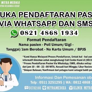 Pendaftaran Via WhatsApp Dan Sms