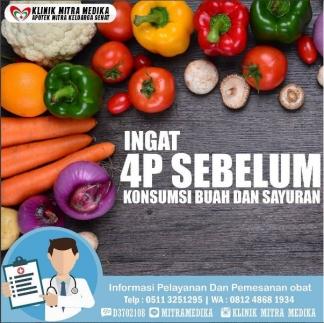 Ingat 4P Sebelum Konsumsi Buah dan Sayur